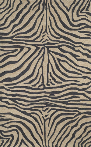 Trans-Ocean Import Co., Inc. - Ravella Zebra Black 5x8 Rug - RVL57203348