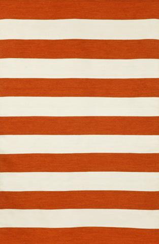Trans-Ocean Import Co., Inc. - Sorrento Rugby Stripe Paprika 5x8 Rug - SRN57630217