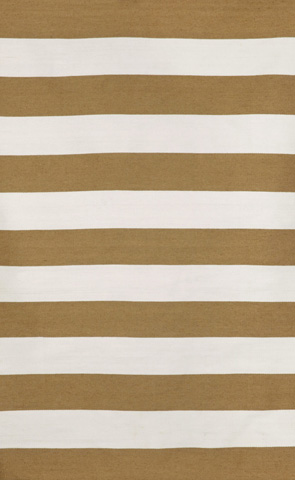 Trans-Ocean Import Co., Inc. - Sorrento Rugby Stripe Khaki 5x8 Rug - SRN57630226