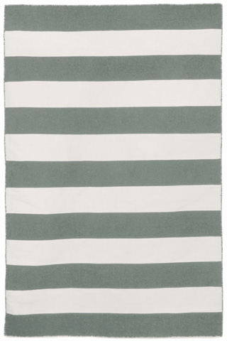 Trans-Ocean Import Co., Inc. - Sorrento Rugby Stripe Grey 5x8 Rug - SRN57630247
