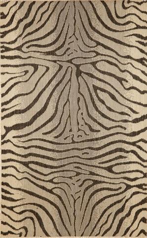 Trans-Ocean Import Co., Inc. - Terrace Zebra Charcoal 5x8 Rug - TER58171267