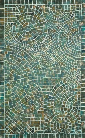 Trans-Ocean Import Co., Inc. - Visions V Arch Tile Lapis 5x8 Rug - VHI58325703