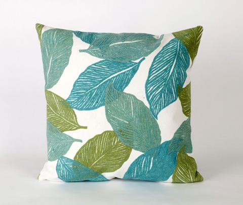 Trans-Ocean Import Co., Inc. - Visions I Mystic Leaf Aqua Throw Pillow - 7SA2S405104