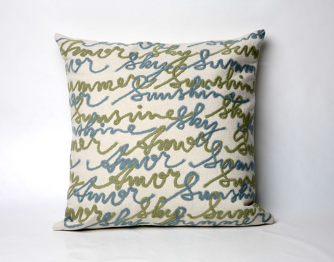 Trans-Ocean Import Co., Inc. - Visions II Amour Blue Throw Pillow - 7SB2S410603