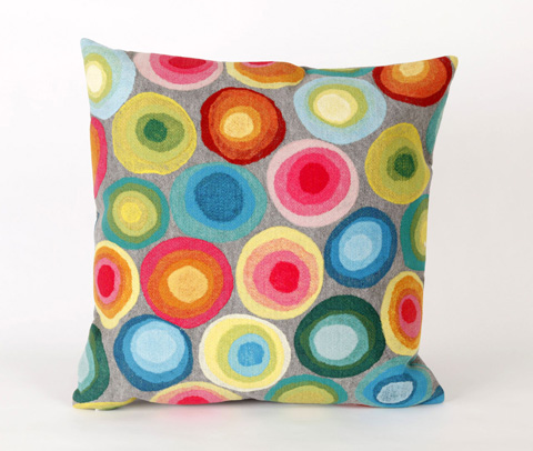 Trans-Ocean Import Co., Inc. - Visions II Puddle Dot Multi Throw Pillow - 7SB2S412844