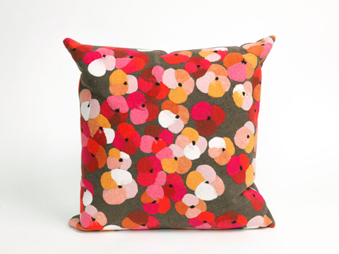 Trans-Ocean Import Co., Inc. - Visions II Pansy Pink Throw Pillow - 7SB2S413837