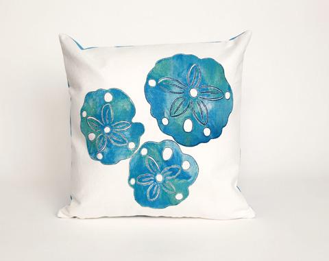 Trans-Ocean Import Co., Inc. - Visions II Sand Dollar Pearl Throw Pillow - 7SB2S414012
