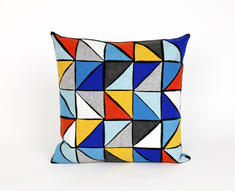 Trans-Ocean Import Co., Inc. - Visions II Triangles Surf Throw Pillow - 7SB2S416003