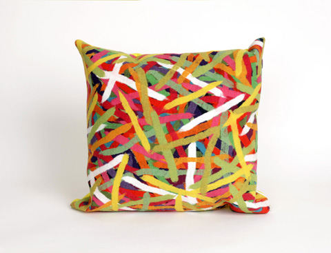 Trans-Ocean Import Co., Inc. - Visions II Pick Up Sticks Jewel Throw Pillow - 7SB2S416144