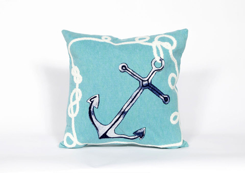 Trans-Ocean Import Co., Inc. - Visions II Marina Aqua Throw Pillow - 7SB2S418404