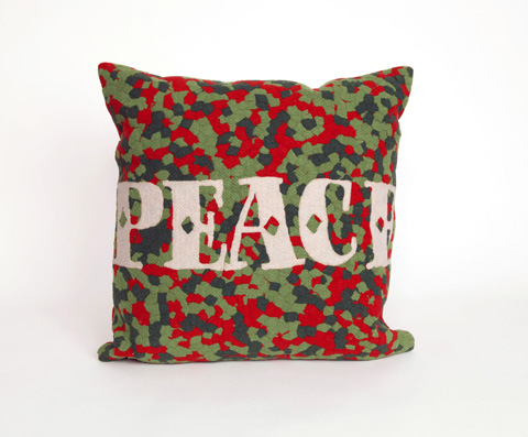 Trans-Ocean Import Co., Inc. - Visions II Peace Red Throw Pillow - 7SB2S420124