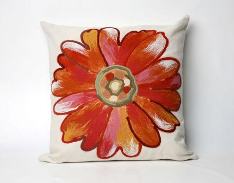 Trans-Ocean Import Co., Inc. - Visions III Daisy Orange Throw Pillow - 7SC2S314917