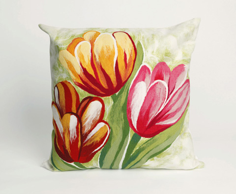 Trans-Ocean Import Co., Inc. - Visions III Tulips Warm Throw Pillow - 7SC2S320824