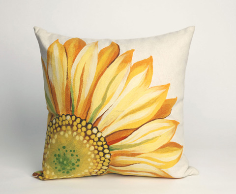 Trans-Ocean Import Co., Inc. - Visions III Sunflower Yellow Throw Pillow - 7SC2S321609