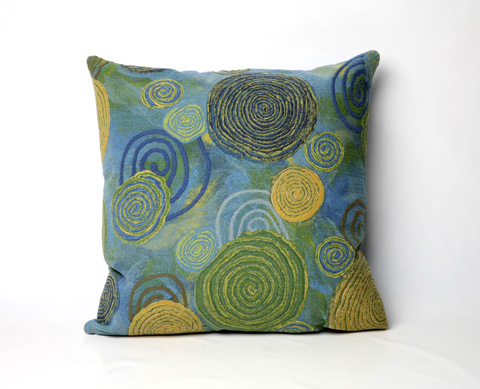 Trans-Ocean Import Co., Inc. - Visions III Graffiti Swirl Cool Throw Pillow - 7SC2S410906