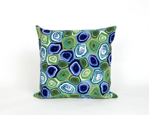 Trans-Ocean Import Co., Inc. - Visions III Murano Swirl Caribbean Throw Pillow - 7SC2S416694
