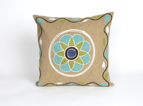 Trans-Ocean Import Co., Inc. - Visions III Maroma Linen Throw Pillow - 7SC2S417011