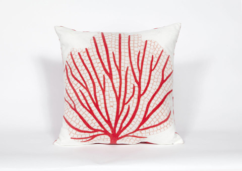 Trans-Ocean Import Co., Inc. - Visions III Coral Fan Coral Throw Pillow - 7SC2S418517