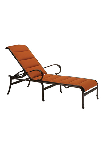 Tropitone Furniture Co., Inc. - Torino Padded Sling Chaise Lounge - 150332PS