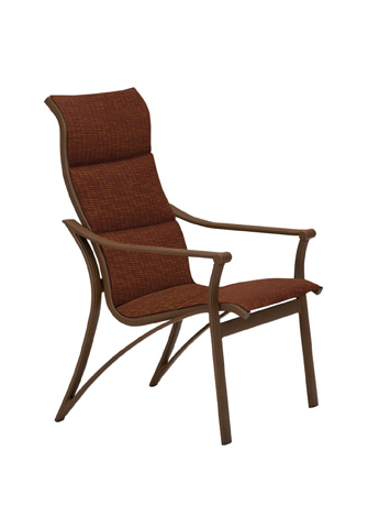 Tropitone Furniture Co., Inc. - Corsica Padded Sling High Back Dining Chair - 161101PS