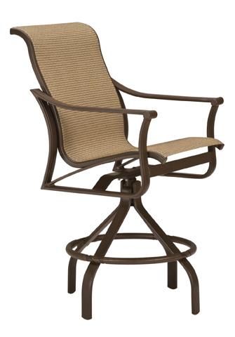 Tropitone Furniture Co., Inc. - Corsica Sling Swivel Barstool - 161127-28