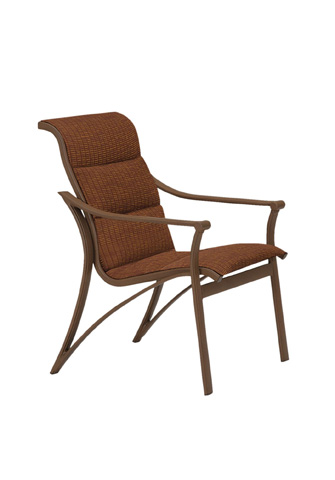 Tropitone Furniture Co., Inc. - Corsica Padded Sling Dining Chair - 161137PS