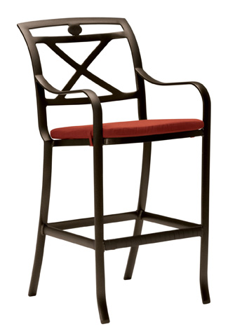 Tropitone Furniture Co., Inc. - Palladian Cast Barstool with Seat Pad - 17002605