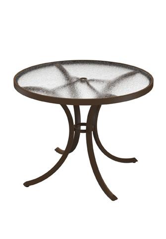 Tropitone Furniture Co., Inc. - Acrylic Round Dining Umbrella Table - 1836AU