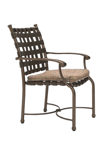 Tropitone Furniture Co., Inc. - Sorrento Strap Dining Chair with Seat Pad - 20042405