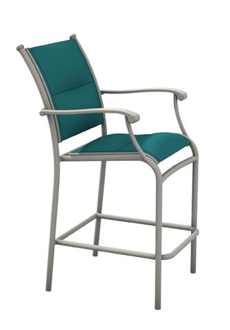 Tropitone Furniture Co., Inc. - Sorrento Padded Sling Stationary Barstool - 200826PS