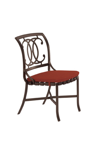 Tropitone Furniture Co., Inc. - Palladian Strap Side Chair with Pad - 22002805