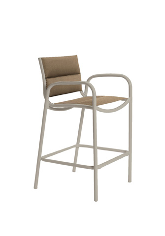 Tropitone Furniture Co., Inc. - Millennia Padded Sling Stationary Barstool - 220426PS