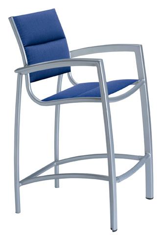 Tropitone Furniture Co., Inc. - South Beach Padded Sling Stationary Barstool - 240526PS