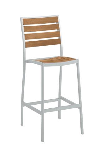 Tropitone Furniture Co., Inc. - Jado Faux Wood Slat Armless Barstool - 2J1326