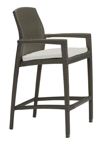 Tropitone Furniture Co., Inc. - Evo Woven Stationary Barstool with Pad - 36082605