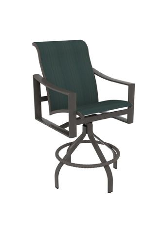Tropitone Furniture Co., Inc. - Kenzo Sling Swivel Barstool - 381527-28