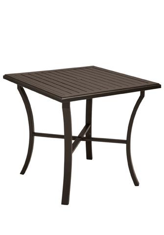 Tropitone Furniture Co., Inc. - Banchetto Square Bar Umbrella Table - 401191U