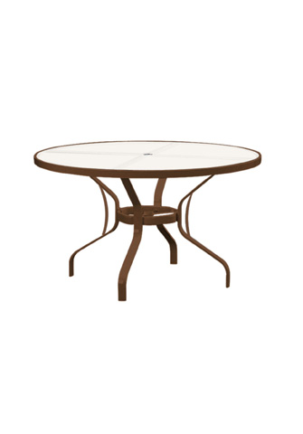 Tropitone Furniture Co., Inc. - Obscure Glass Round Dining Table - 500048GU