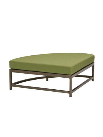 Tropitone Furniture Co., Inc. - Cabana Club Aluminum Curved Ottoman - 591008CO