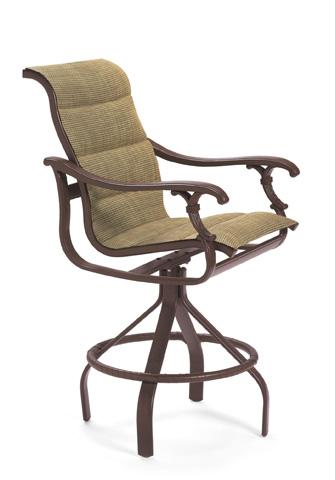 Tropitone Furniture Co., Inc. - Ravello Padded Sling Swivel Barstool - 650727PS-28