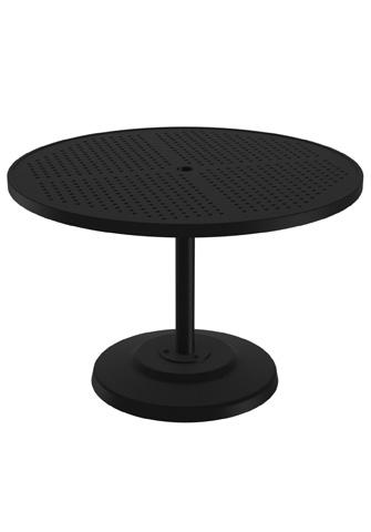 Tropitone Furniture Co., Inc. - Boulevard Round Pedestal Dining Umbrella Table - 701442SBU