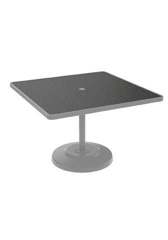 Tropitone Furniture Co., Inc. - Raduno Square Pedestal Dining Umbrella Table - 701443HU
