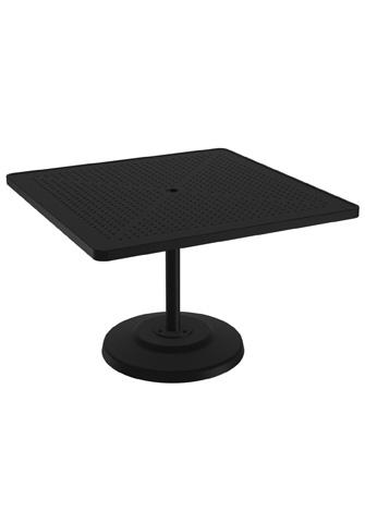 Tropitone Furniture Co., Inc. - Boulevard Square Pedestal Dining Umbrella Table - 701443SBU