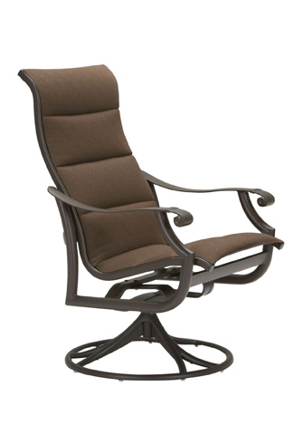 Tropitone Furniture Co., Inc. - Montreux Padded Sling Swivel Rocker with High Back - 710170PS