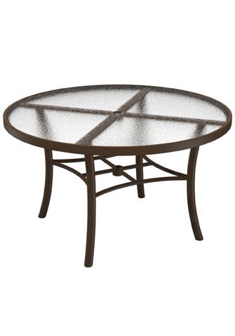 Tropitone Furniture Co., Inc. - Obscure Glass Round Chat Umbrella Table - 720286GU