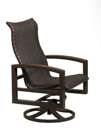 Tropitone Furniture Co., Inc. - Lakeside Woven Swivel Action Lounge Chair - 740525NTWS