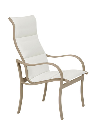 Tropitone Furniture Co., Inc. - Shoreline Padded Sling High Back Dining Chair - 960201PS