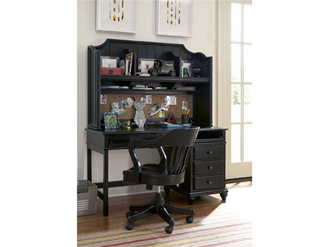 Universal - Smart Stuff - Black and White Desk Hutch - 437B020