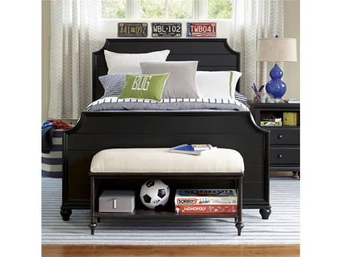 Universal - Smart Stuff - Black and White Metal Bed Bench - 437B075