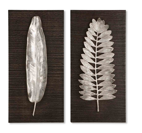 Uttermost Company - Silver Leaves Wall Art - 04001
